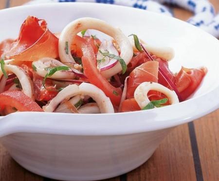 insalata estiva calamaretti