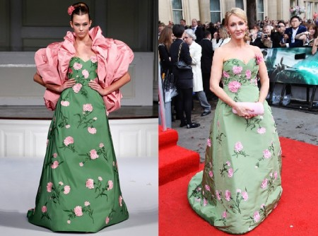 Il giardino fiorito di Oscar de la Renta veste J.K. Rowling