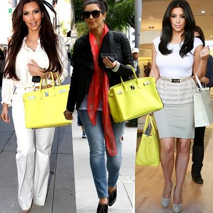 Kim Kardashian non rinuncia alla sua Birkin giallo limone. Ha osato troppo?