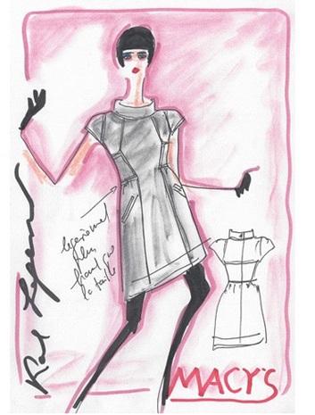 Gli schizzi della capsule collection Karl Lagerfeld for Macy's