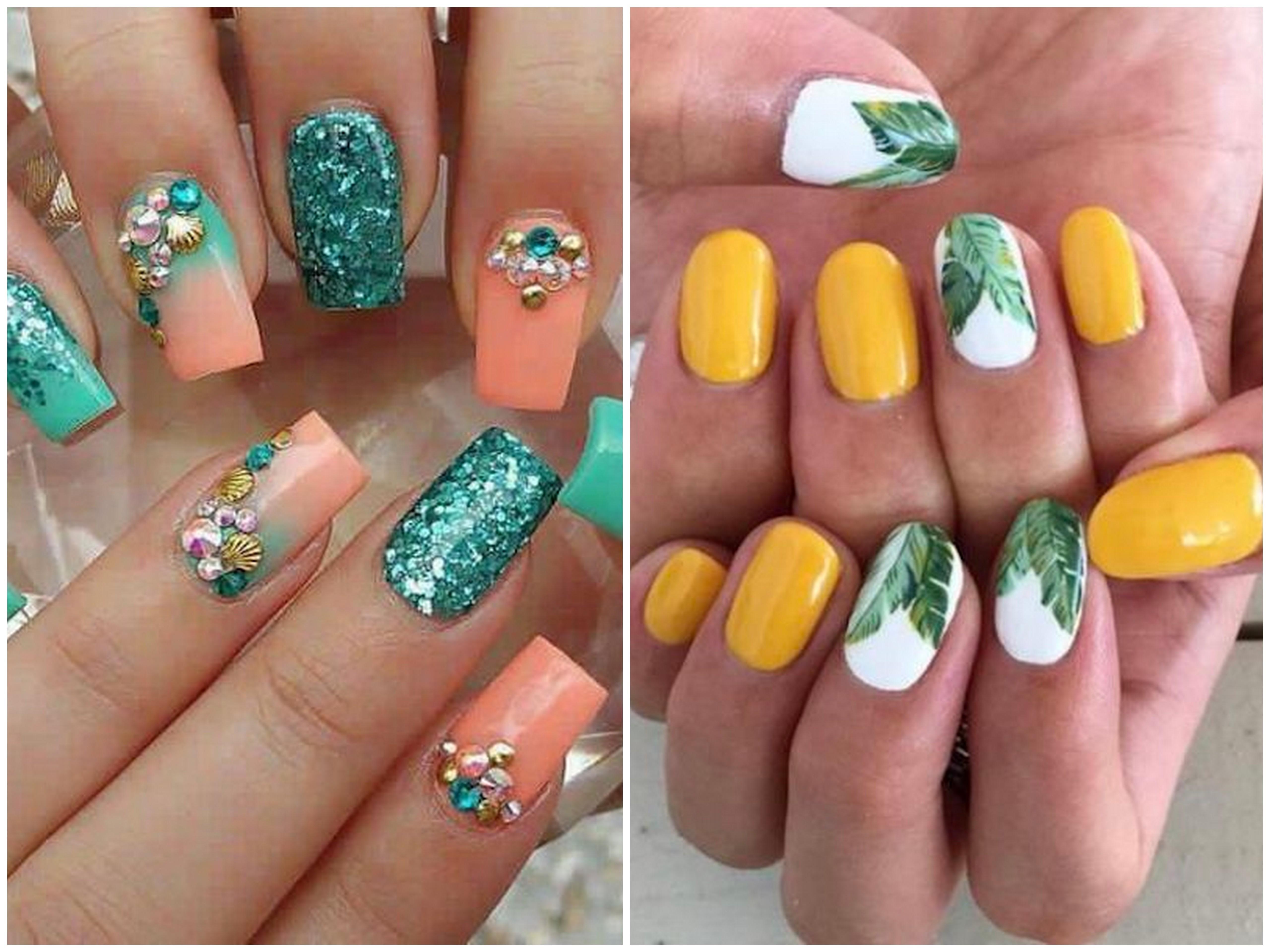 nail art gel dai colori estivi