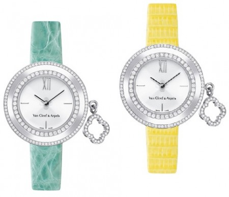 Eleganza minimal per l'orologio con charms di Van Cleef & Arpels