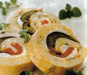 Una buonissima ricetta light per l'estate: rotolo con spinaci e mozzarella
