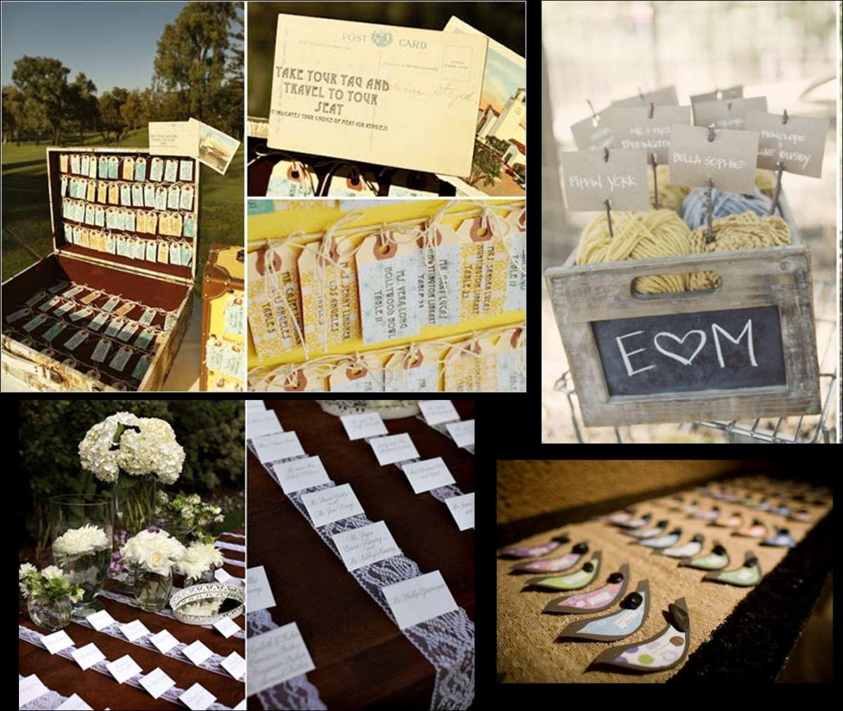 Tante idee per i tableau per matrimonio pi originali foto pourfemme - Idee originali per segnaposto matrimonio ...
