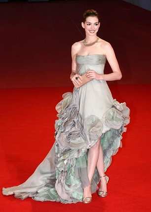 Anne Hathaway in Armani