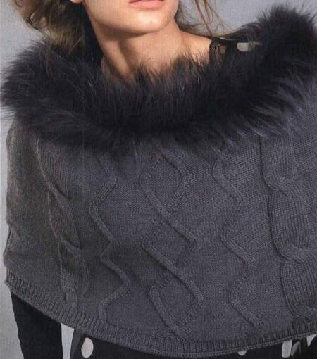 Lavori a maglia mantella elegante