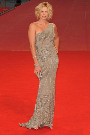 Charlize Theron in Versace