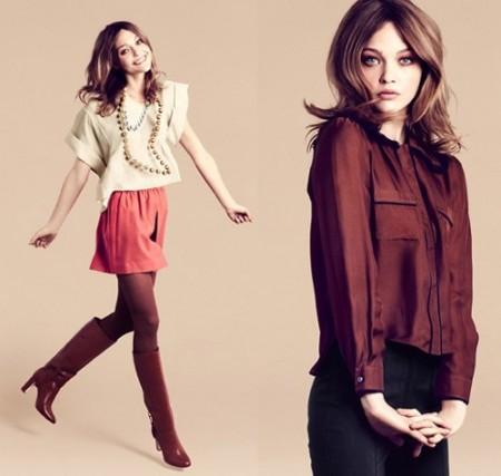 H&M sceglie Sasha Pivovarova come testimonial per la campagna pubblicitaria inverno 2012