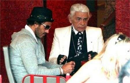 Karl Lagerfeld senza gli occhiali da sole, le foto. Lo riconoscete?