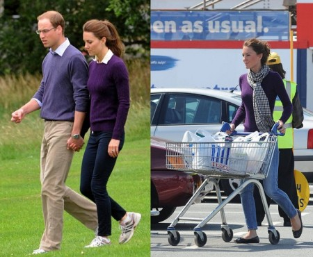 Kate Middleton con maglioncino in Cashmere di Ralph Lauren Black Label
