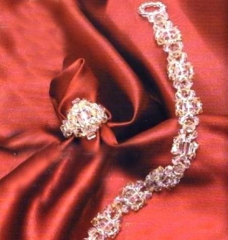Bracciale swarovski biconico crystal golden