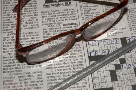 Cruciverba occhiali