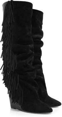 Isabel Marant Manly Suede Leather Knee Boots