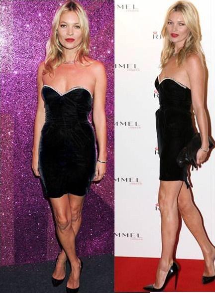 Kate Moss adora le sue Pigalle Christian Louboutin e le abbina ancora al suo ultimo look