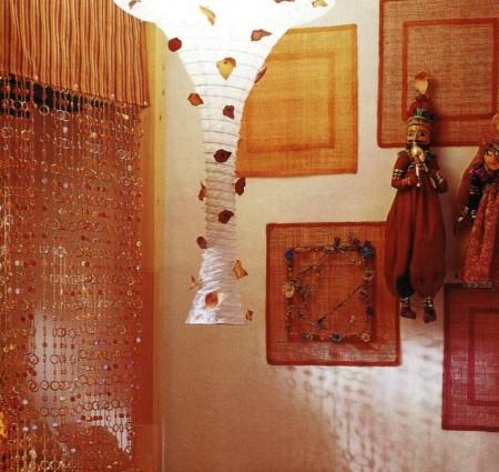 Decorazioni fai da te per una lampada con petali di stoffa pourfemme - Petali finti ikea ...