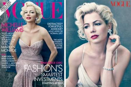 Michelle Williams come Marilyn Monroe per Vogue ottobre 2011
