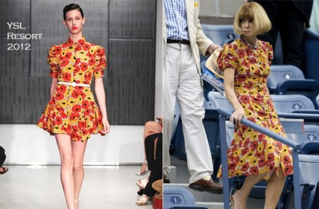 US Open Style Anna Wintour In YSL