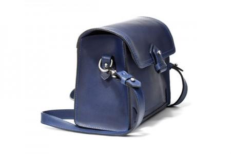 Zara Square Leather Messenger Bag lato