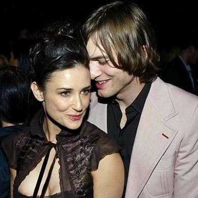 Ashton Kutcher e Demi Moore teneri