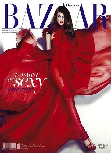 Gucci conquista anche Harper's Bazaar, ecco l'abito rosso indossato da Natasha Poly!