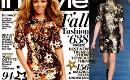 Beyonce Knowles risplende con le stelline Dolce & Gabbana per InStyle
