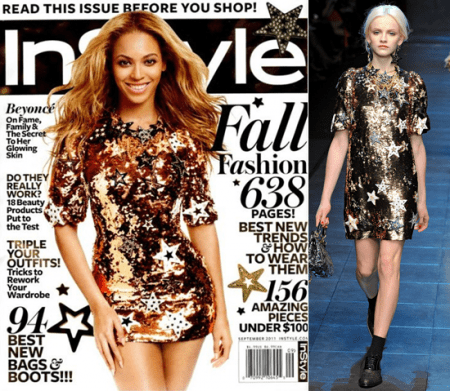 Beyonce Knowles risplende con le stelline Dolce & Gabbana per InStyle
