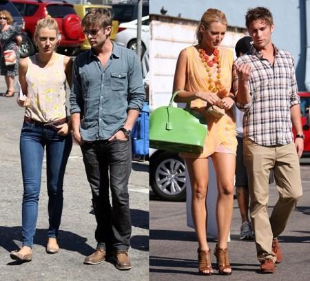 I look di Blake Lively sul set di Gossip Girl 5, Topshop e Louis Vuitton