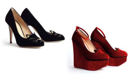 Le scarpe con i gattini di Charlotte Olympia, adorabili