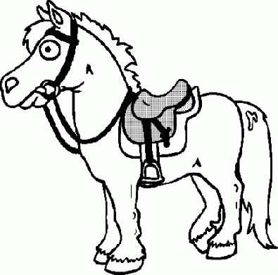 Disegno da colorare con un cavallo