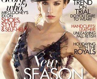 Elisabetta Canalis veste Christian Dior e Dolce & Gabbana per Harper's Bazaar Arabia