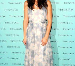 Leighton Meester veste Carven da Tiffany & Co. per la FNO di New York