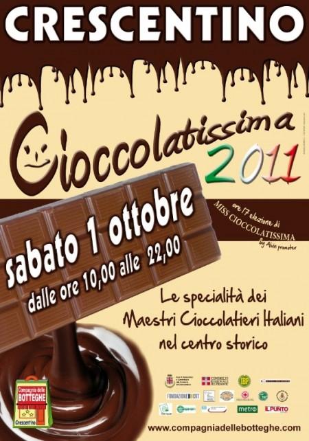 Cioccolatissima, la festa del cioccolato, il 1° ottobre a Crescentino