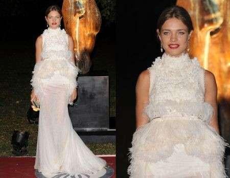 Natalia Vodianova bellissima con un abito Givenchy Couture