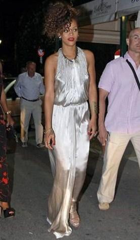 Rihanna sceglie Lanvin e Christian Louboutin per una notte a Portofino