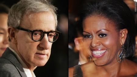 Woody Allen vorrebbe far recitare Michelle Obama in suo film. Con Carlà c'è riuscito…