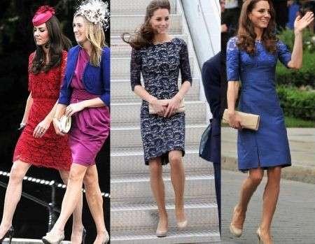 Kate Middleton pizzo Erdem