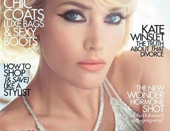 Il make up di Kate Winslet su Harper's Bazaar