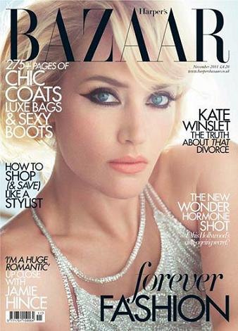 Il make up di Kate Winslet su Harper's Bazaar