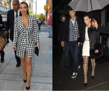 kim kardashian e il pied de poule