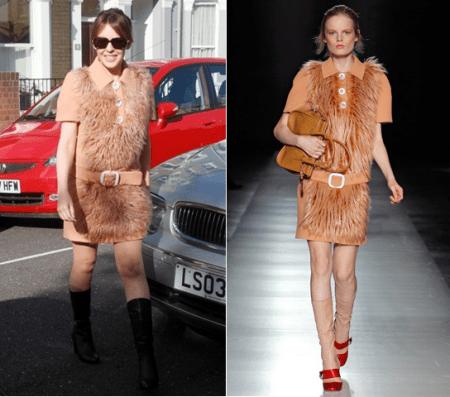 Kylie Minogue con un vestitino peloso di Prada, in o out?