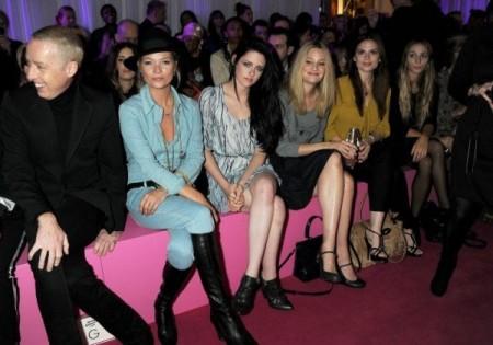 Kate Moss e Kristen Stewart parlano d'amore alla sfilata Mulberry