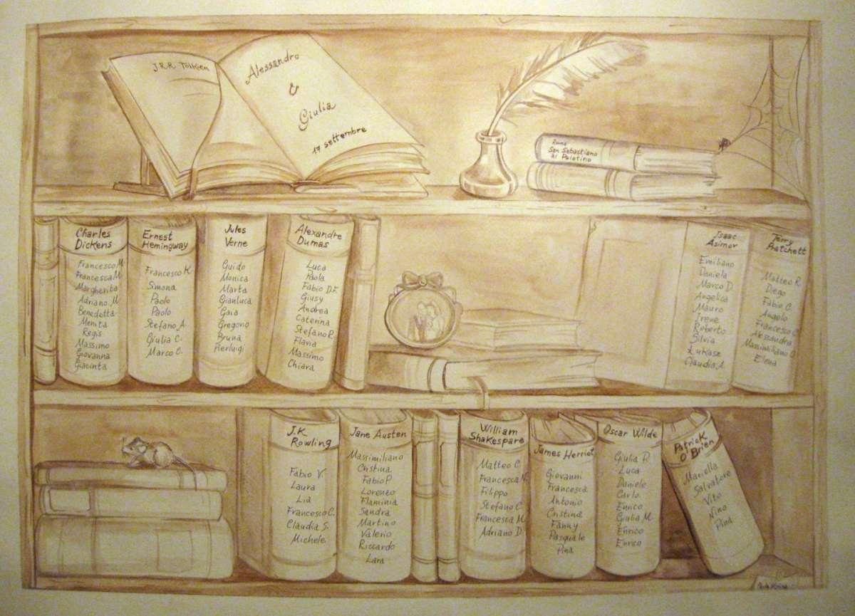 Come mettere i nomi sui tableau del matrimonio in modo simpatico ed originale [FOTO]