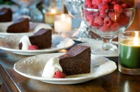 torta al cioccolato alta