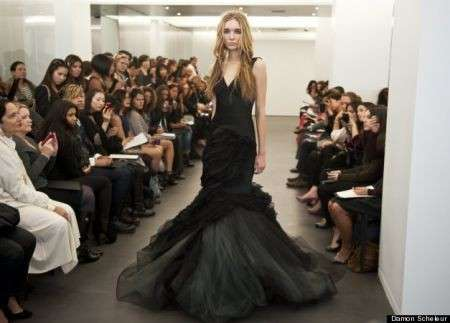 Vera Wang abito sposa nero