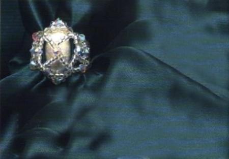 Bijoux anello effetto diamante