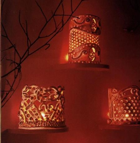 Candele decorate lavoretti natalizi