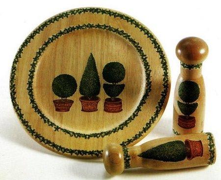 Decoupage su legno per decorare piatti e conenitori