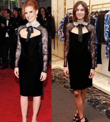L'abito Emilio Pucci sta meglio a Jessica Chastain oppure ad Alexa Chung?