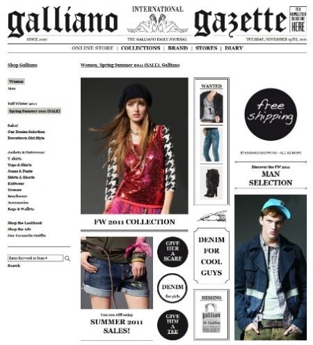 John Galliano lancia lo store online, ma senza Galliano che senso ha?