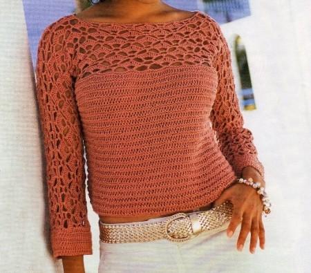 I tuoi schemi maglia per creare un maglioncino color legno di rosa